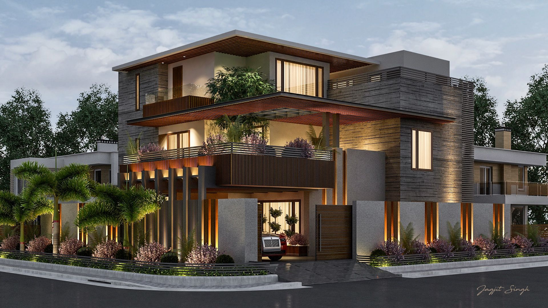 Hausfrontdesign in rajasthan house designed for client at jodhpur rajasthan  rumah modern