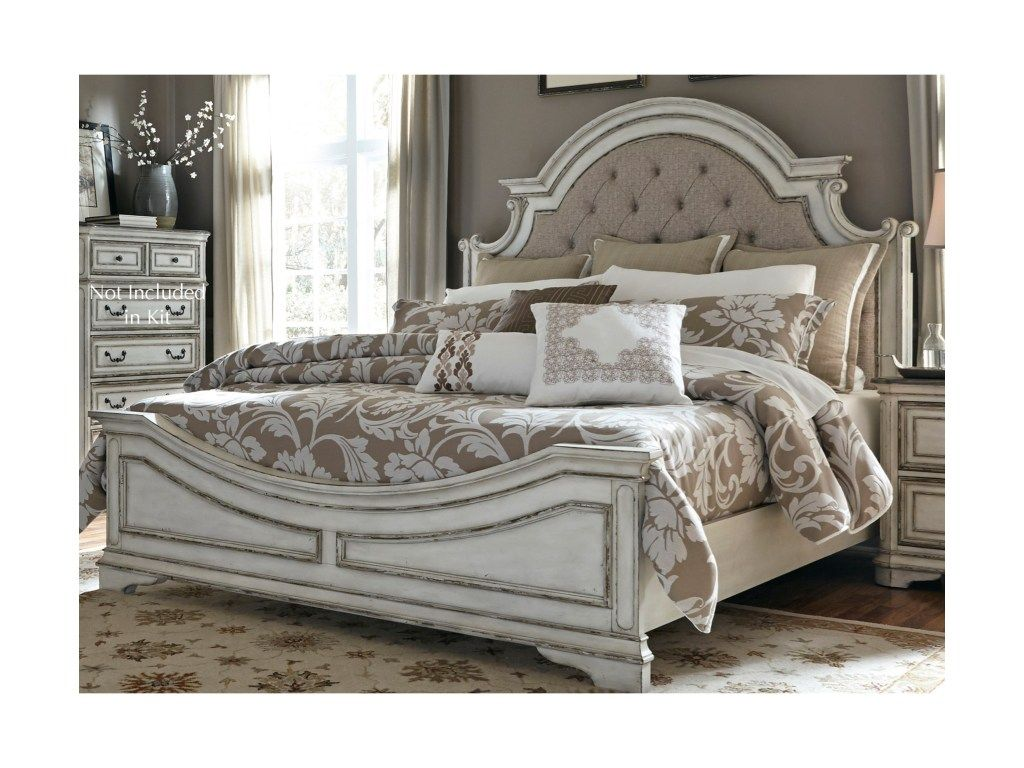 Magnolia Manor Queen Upholstered Panel Headboard By