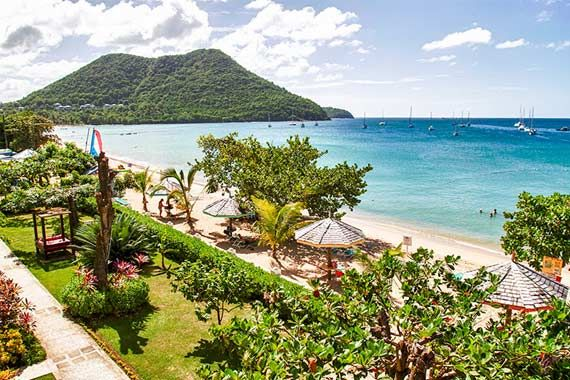 Bay Gardens Beach Resort St Lucia Caribbean