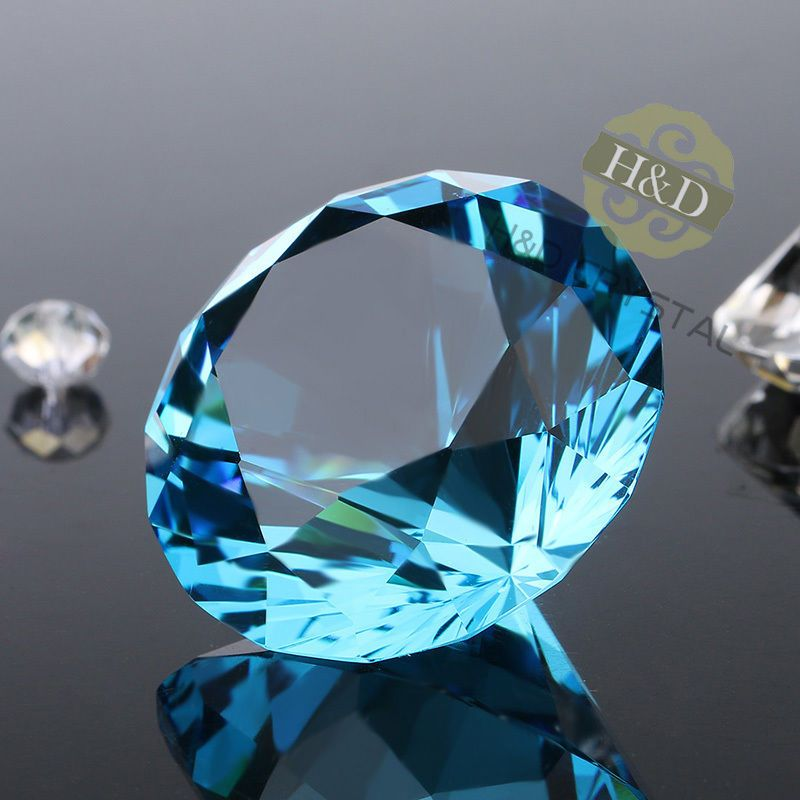 Giant Crystal Diamond Ring Paperweight with Gift Package Funny Present Casual
