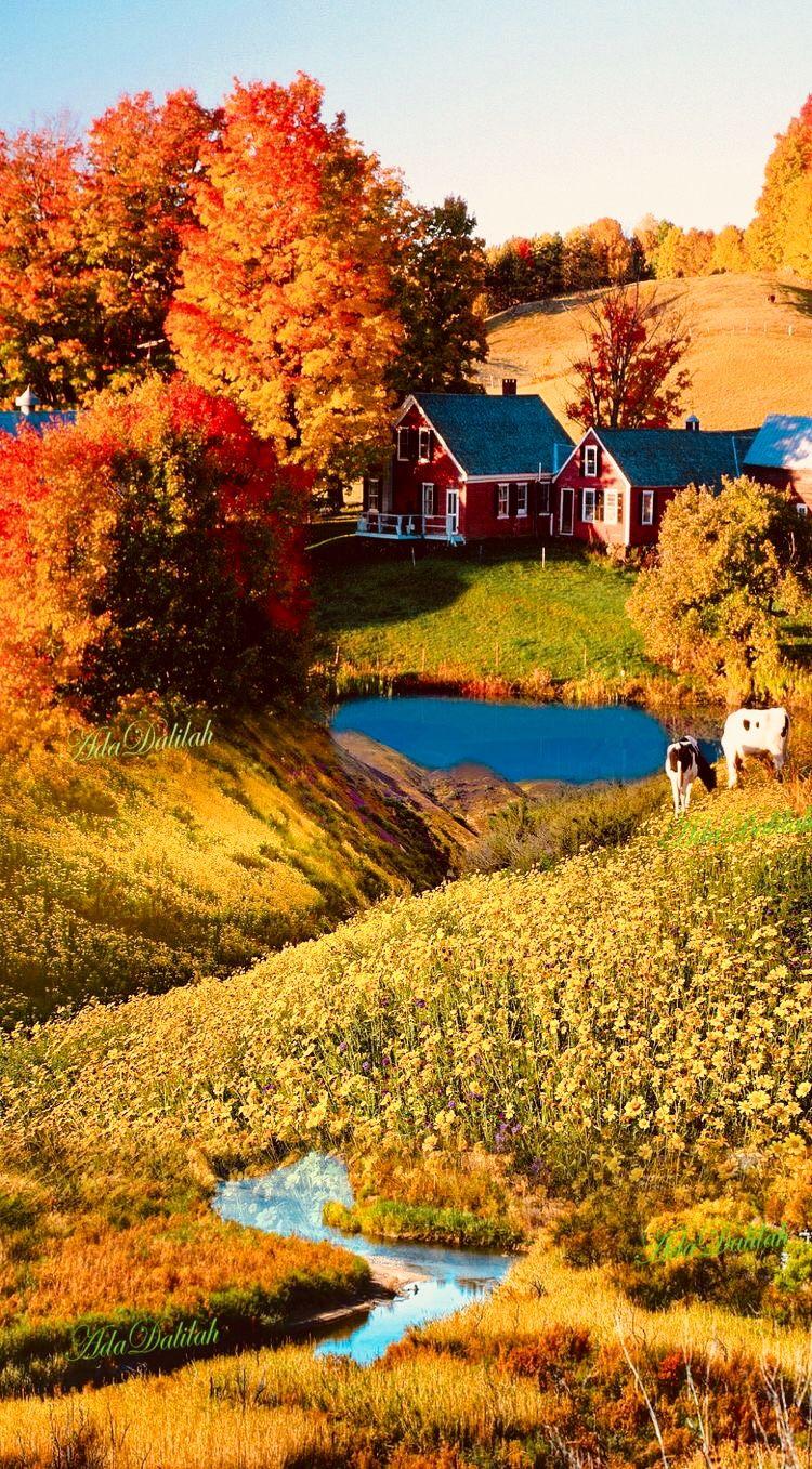 Pin By Aferdita Mavraj On Autumn Farmhouse Autumn Scenery Beautiful Landscapes Beautiful Nature