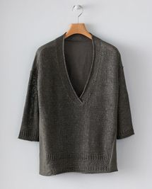 Product Image of Knitted and Woven Linen Top