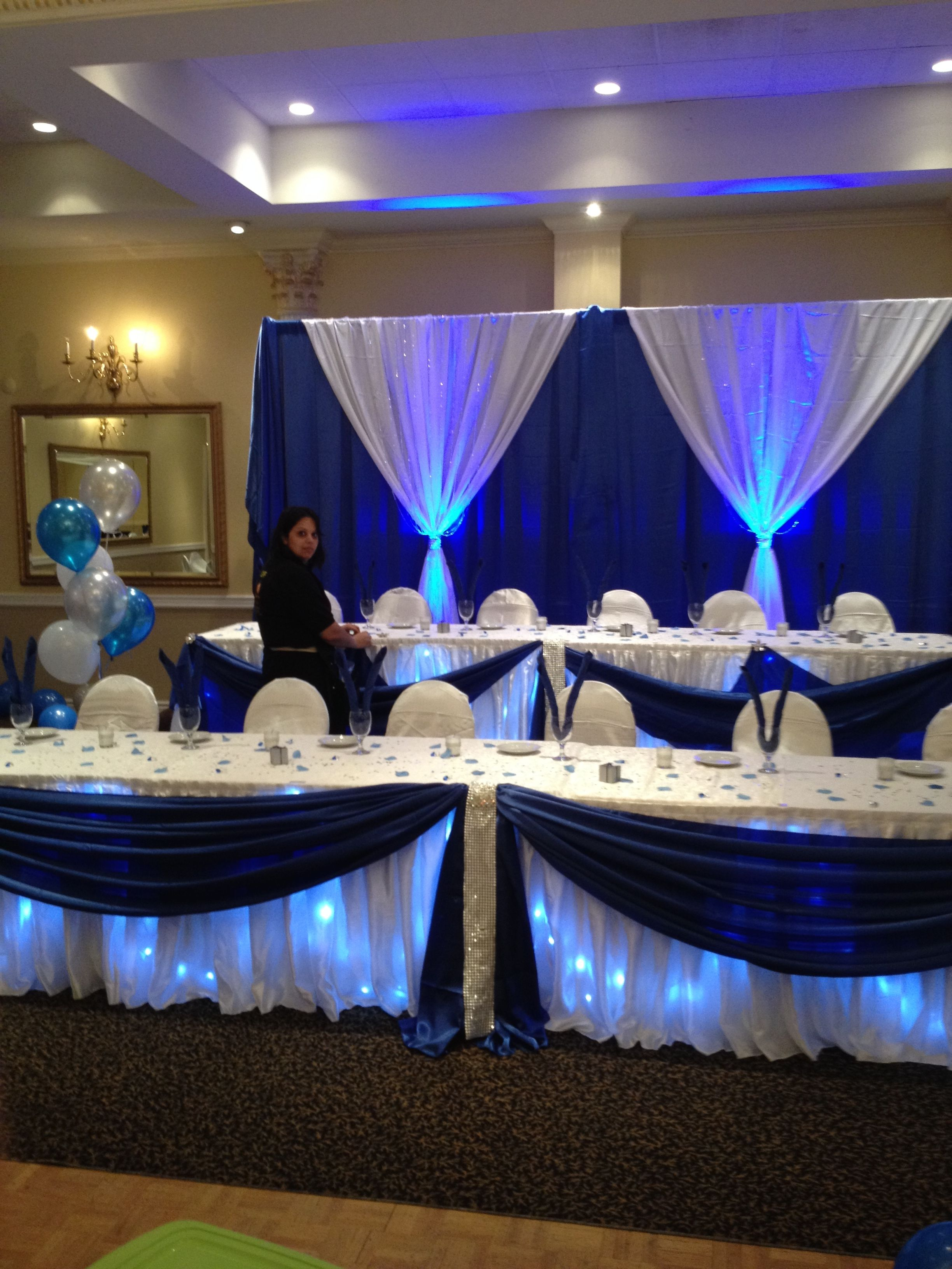 Navy Blue and White is a 2014 hot colour this was a Sweet 16