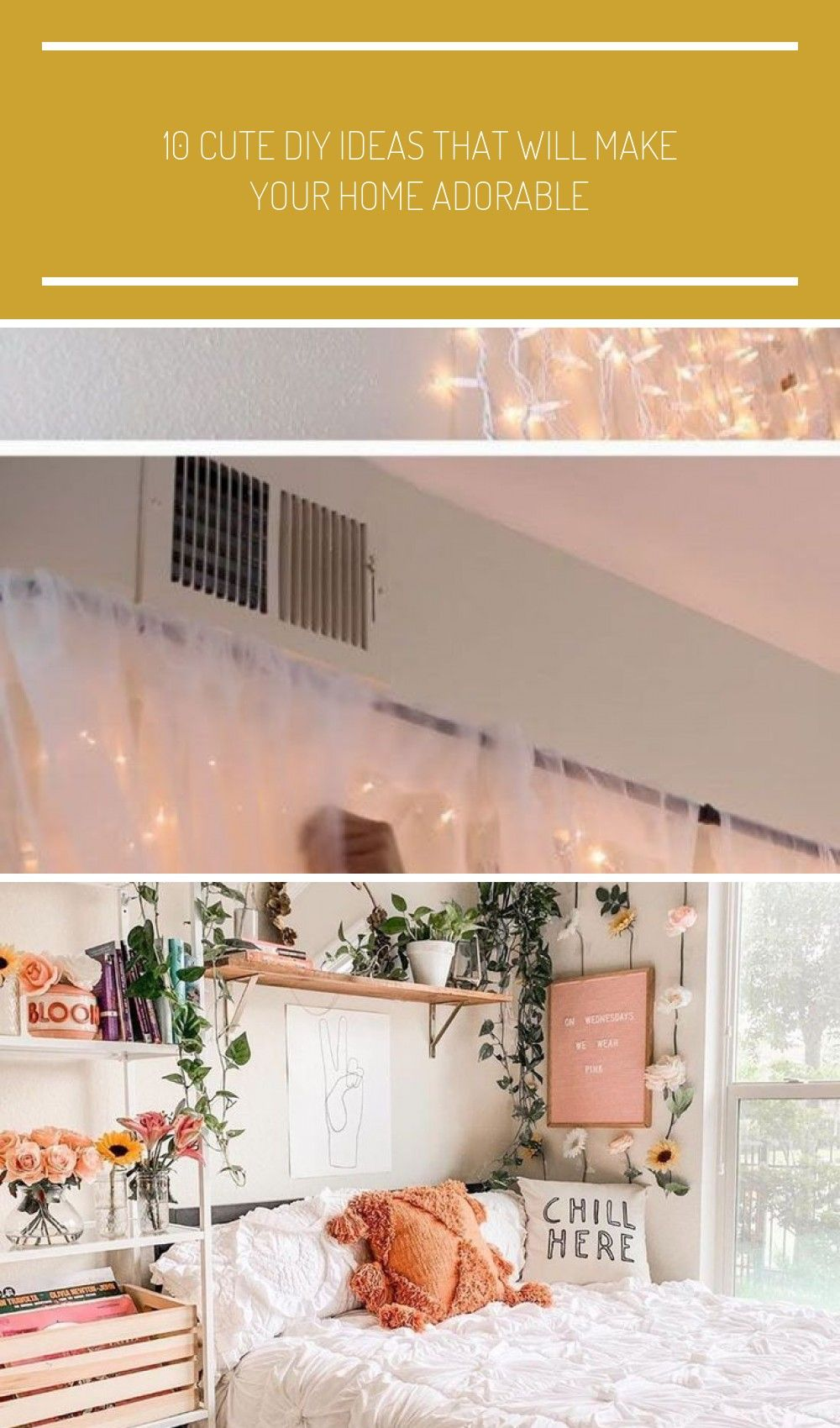 10 Cute DIY Ideas That Will Make Your Home Adorable # home decor ideas diy bedrooms 10 Cute DIY Ideas That Will Make Your Home Adorable #cuteideas