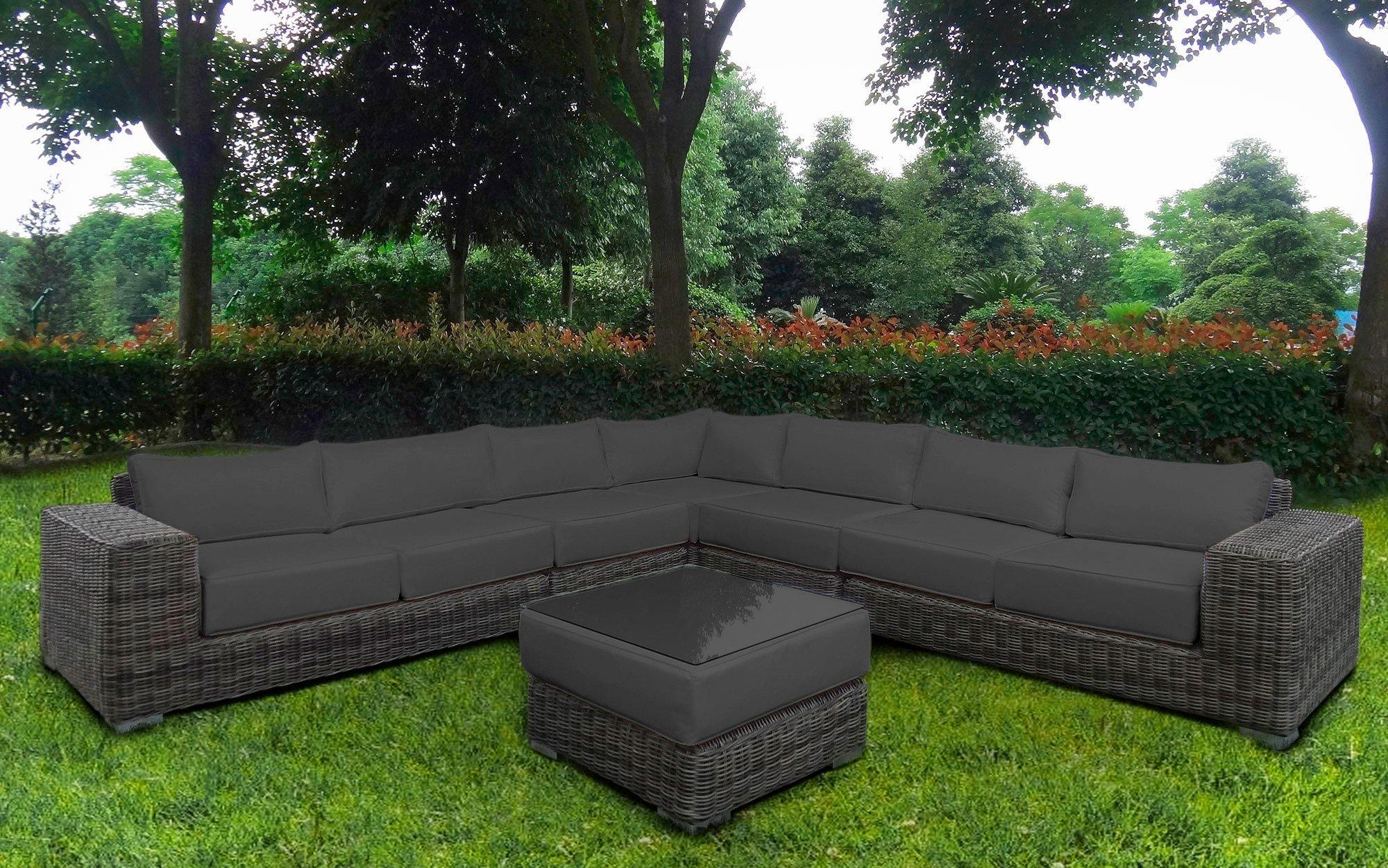 Baidani Loungeset Sensation 21 Tlg Ecklounge Tisch 67x67x40 Cm Polyrattan Lounge Mobel Loungemobel Garten Polyrattan