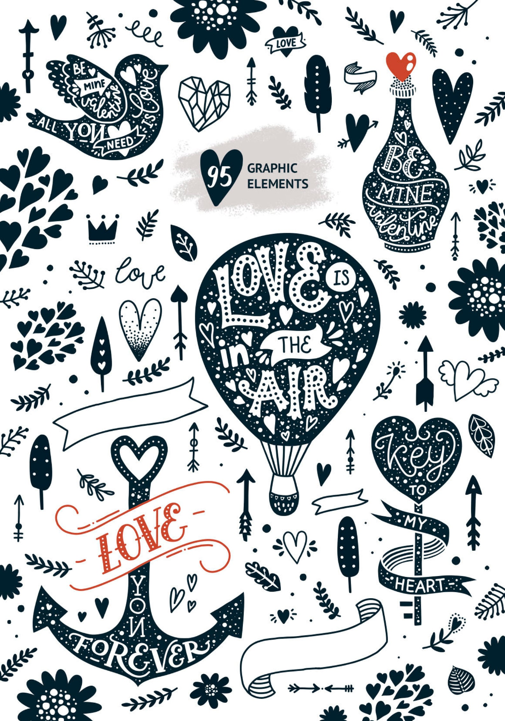 Valentine clipart Vector clip art Valentines day cards Valentines quotes love cards Commercial use Valentines printable Valentines png