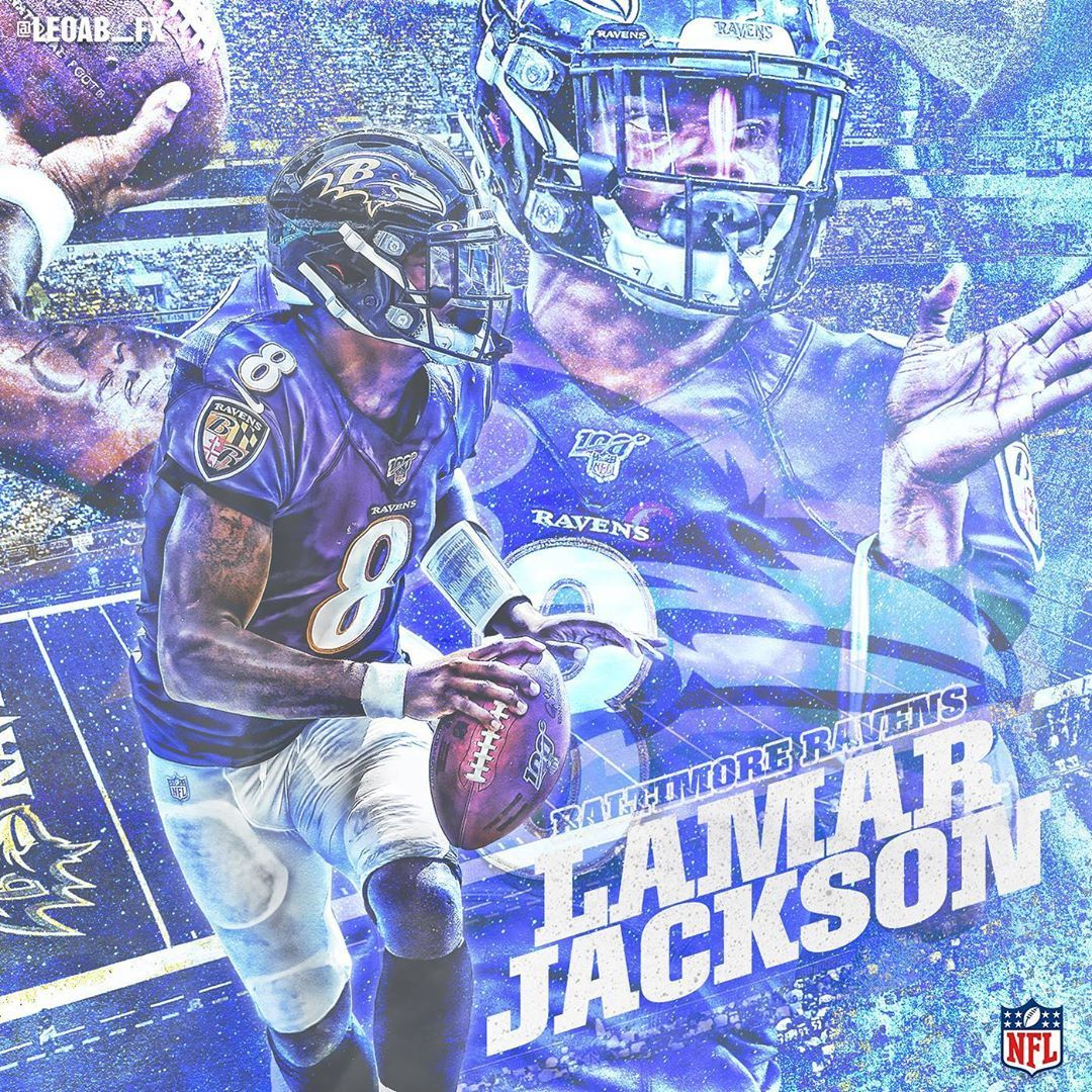 Leo On Instagram Lamar Jackson Is A Beast New Era8 Ravens Baltimoreravens Lamarjackson Nfl Football Art Lamar Jackson Baltimore Ravens Football