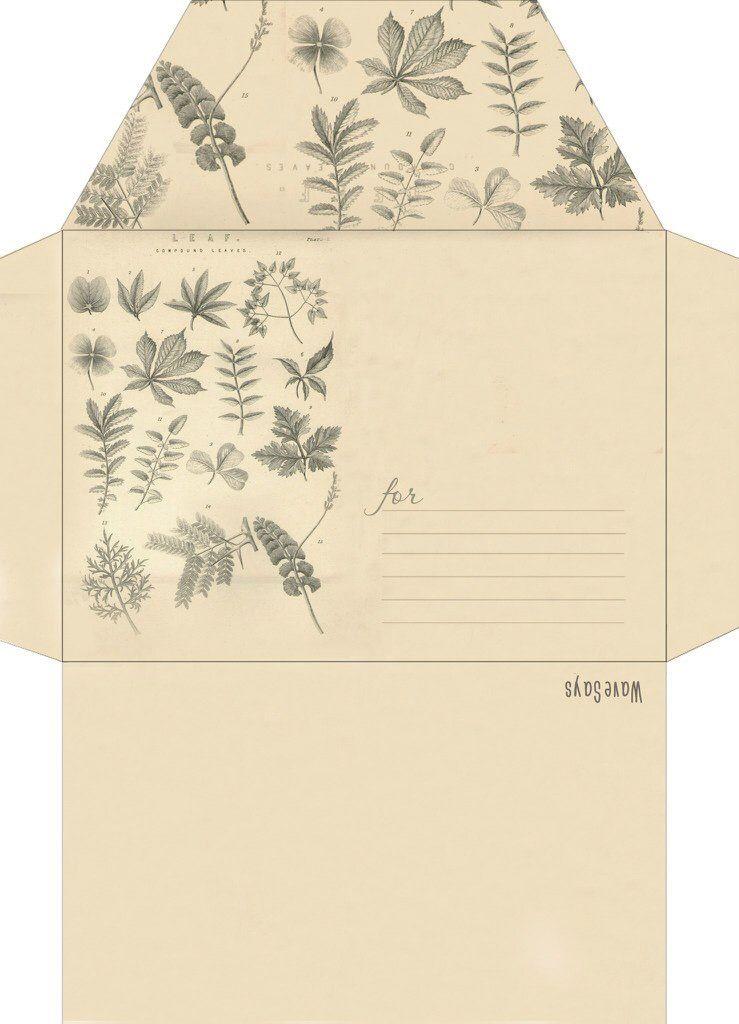 Конверт с заготовкой открытки