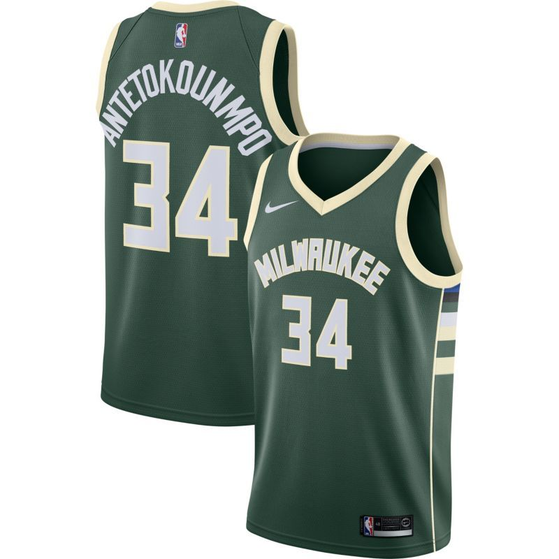 e97c89a09b8 Nike Youth Milwaukee Bucks Giannis Antetokounmpo  34 Green Dri-FIT Swingman  Jersey