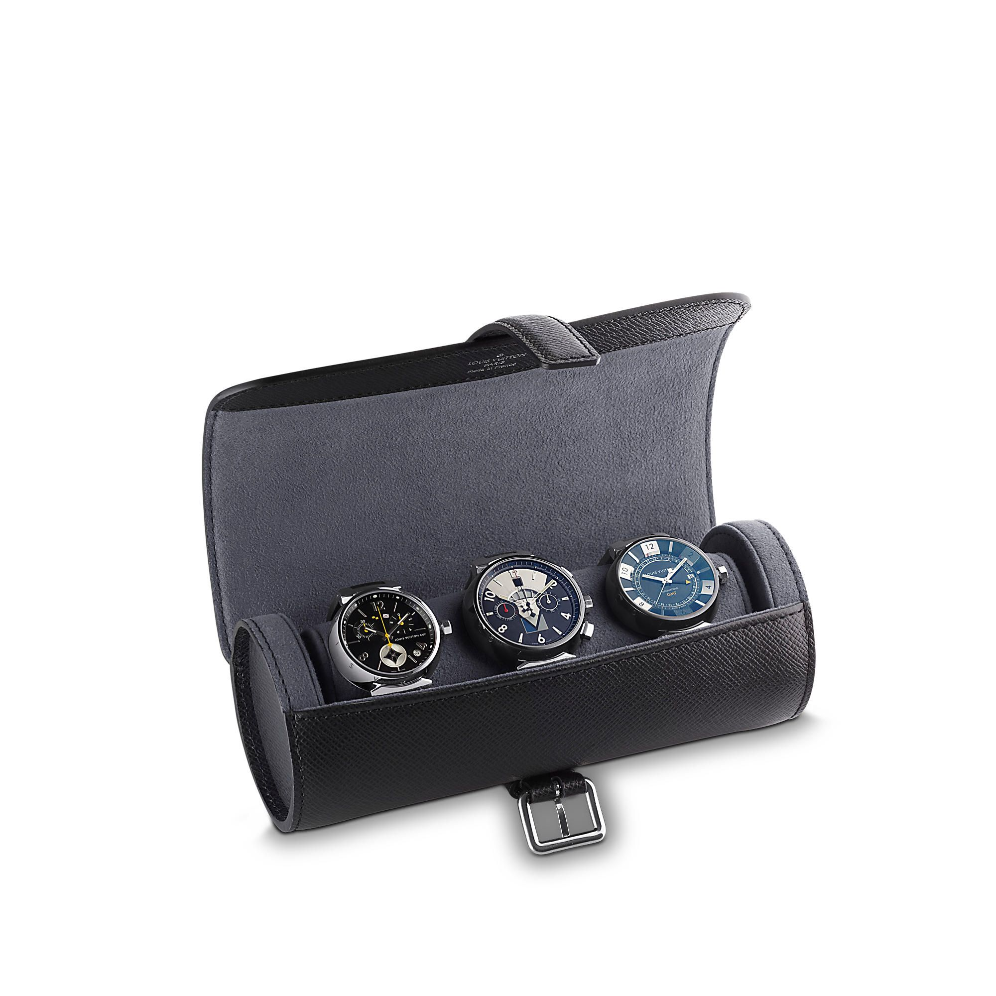 Louis Vuitton Etui 3 Montres Taiga To Travel In Style With Your