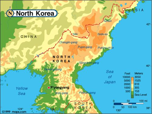 North Korea is made up of mountains and plains North Korea