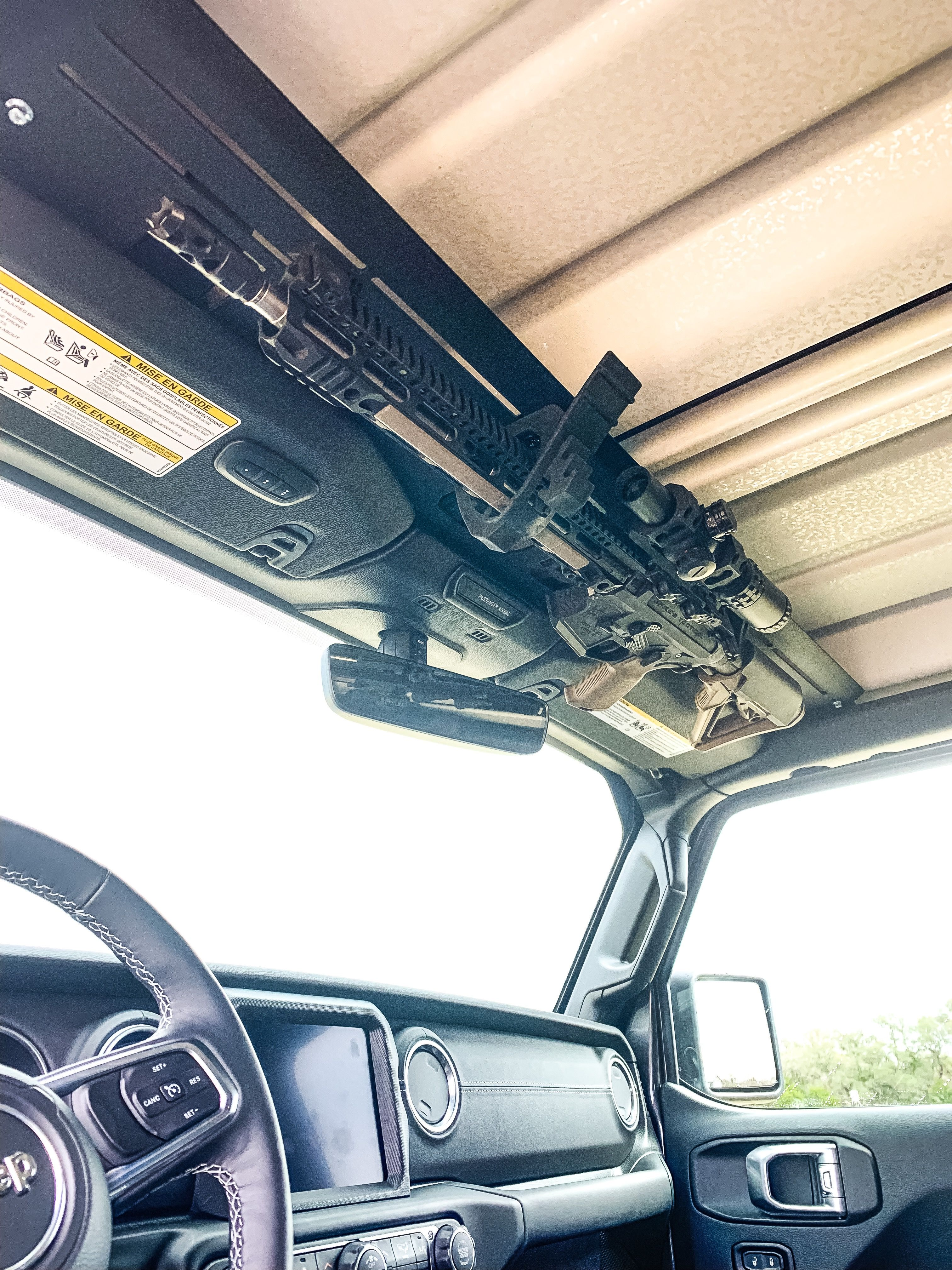 Jl Jeep Overhead Storage And Weapon Mount Tactical Truck Jeep