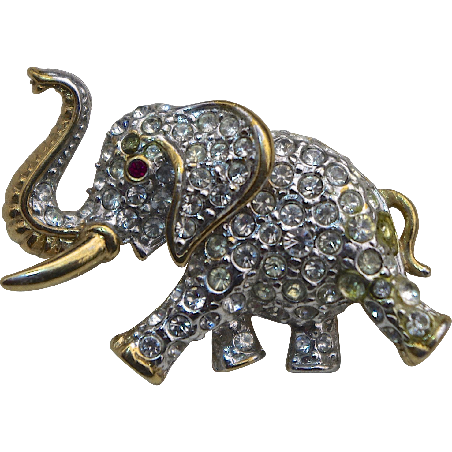 A Vintage Signed Attwood Sawyer Gold Tone And Pave Set Clear Swarovski Crystals Elephant Figural Brooch Elephants In Jewelry Elephant Jewelry Jewelry Vintage Costume Jewelry All content is available for personal use. pinterest