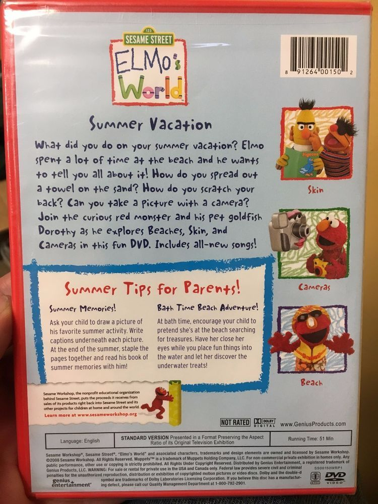 Details About Elmo S World Summer Vacation Sesame Street