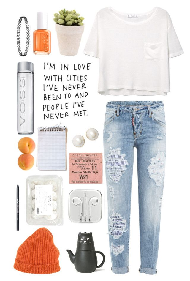 """""""// JUST A TOUCH +❤️"""" by kyraginn on Polyvore featuring MANGO, Dsquared2, Scaglione, Kate Spade, Urban Decay and Essie"""