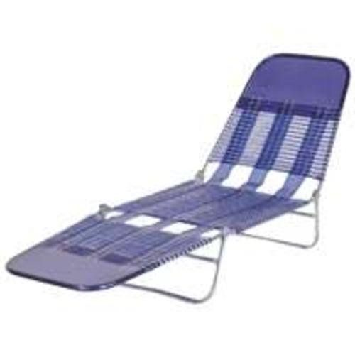 Mintcraft high quality pvc folding chaise royal blue for Pvc pipe lounge chair