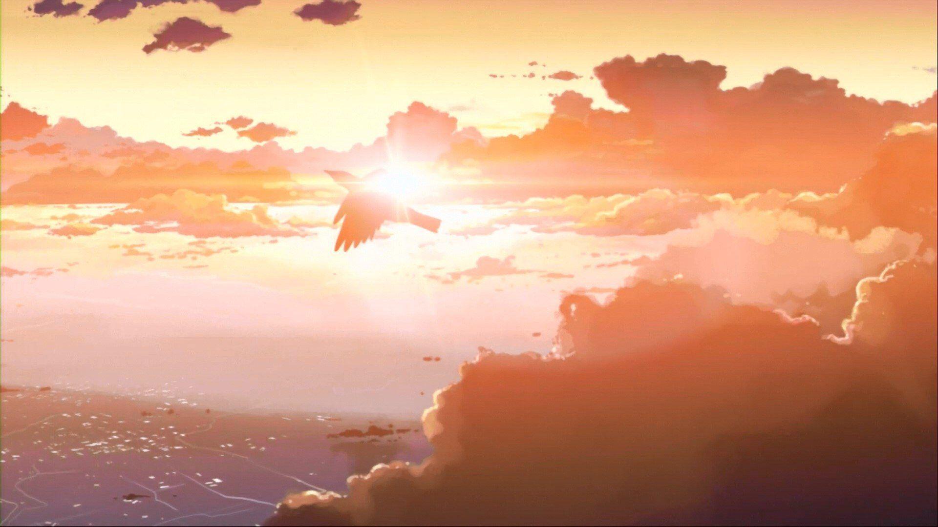 Skyline Anime Scenery Wallpaper Hd Free Desktop 42727