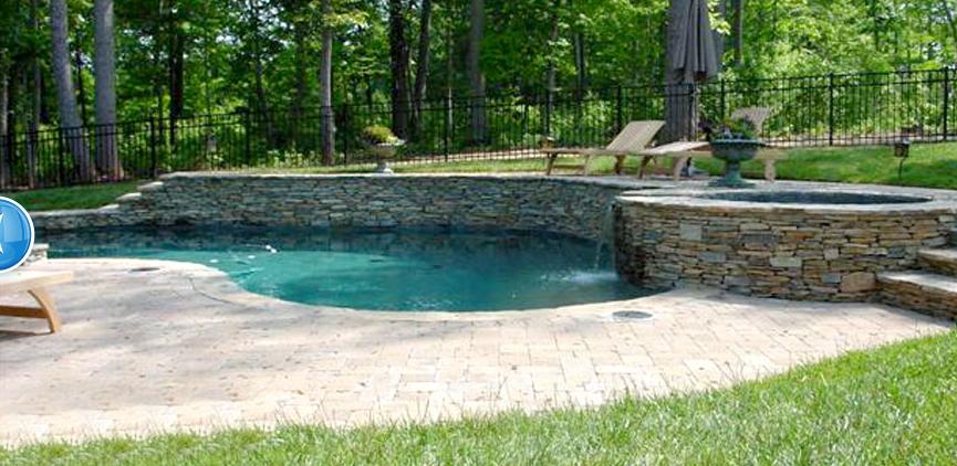 Pool Built Into Hill Building A Backyard