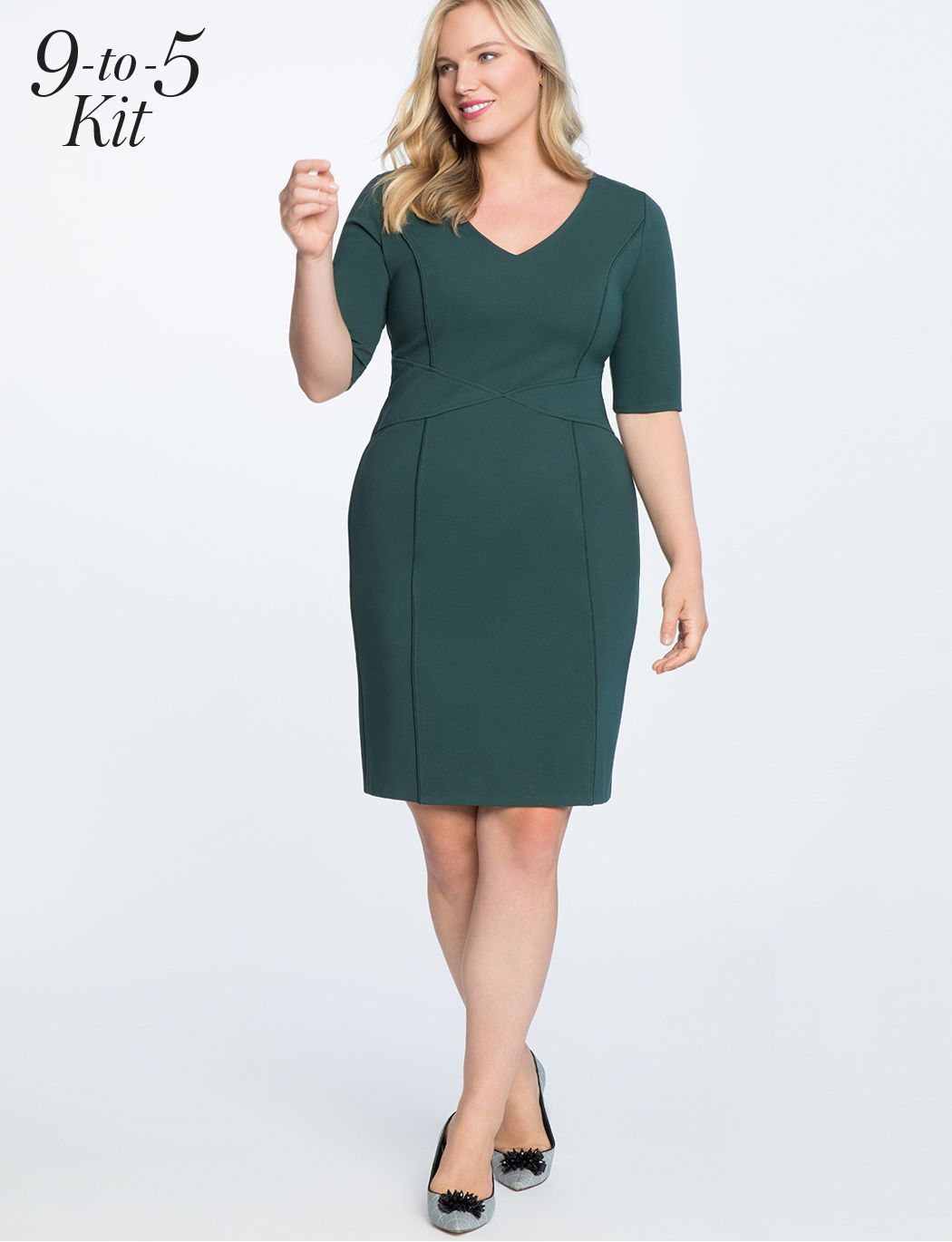 9 To 5 Stretch Work Dress Women S Plus Size Dresses Eloquii Work Dresses For Women Plus Size Dresses Dresses For Work