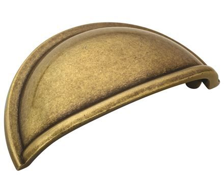 Amerock Cup Pulls Cup Pull Burnished Brass 3in(76mm) CTC