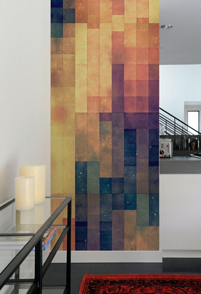 Wandmuster Waende Gestalten Wandgestaltung Farbgestaltung Hebstlich  Farbverlauf