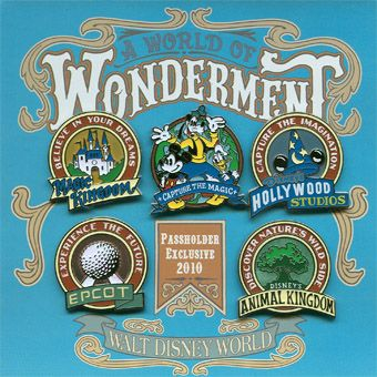 2010 Passholder exclusive pin set, A World of Wonderment