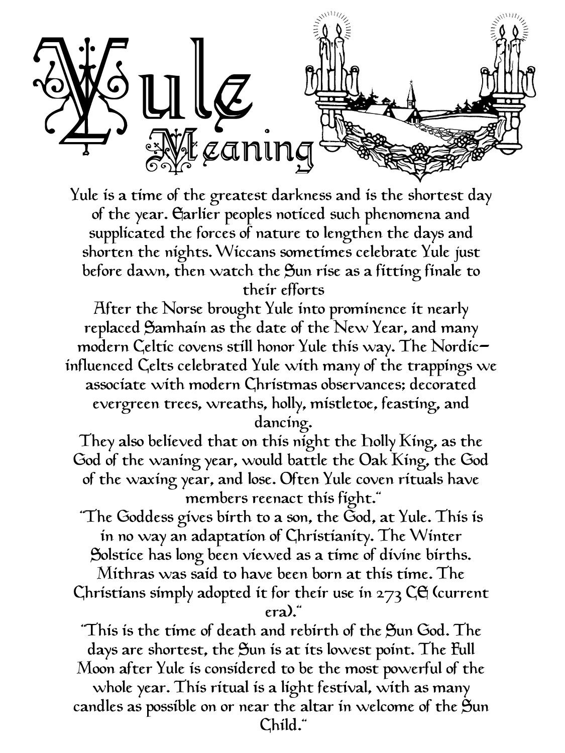 The meaning of Yule | Pagan Holidays & Sabbats & Esbats
