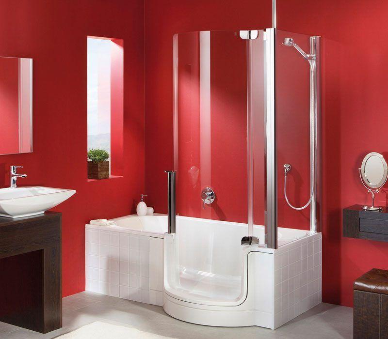 Modelo Twinline De Artweger Cuarto De Baño Rojo Baños Rojos Decoracion De Baños Modernos