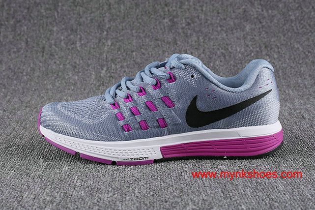 393f79ef113 Nike Air Zoom Vomero 11 Gray Purple Women s Running Shoes