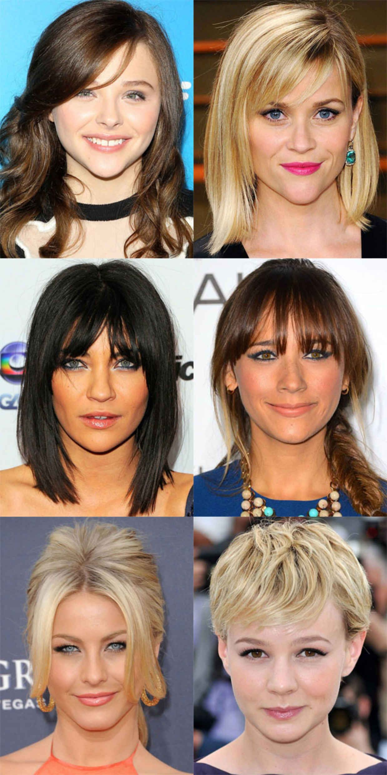 The Best And Worst Bangs For Inverted Triangle Faces Triangle Face Hairstyles Face Shape Hairstyles Haircut For Face Shape