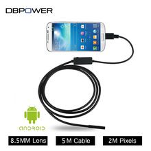 DBPOWER USB 2MP Mobile Endoscope Android 8.5MM Lens 2M/5M Snake Camera Waterproof Inspection Borescope for Laptop with OTG /UVC(China (Mainland))