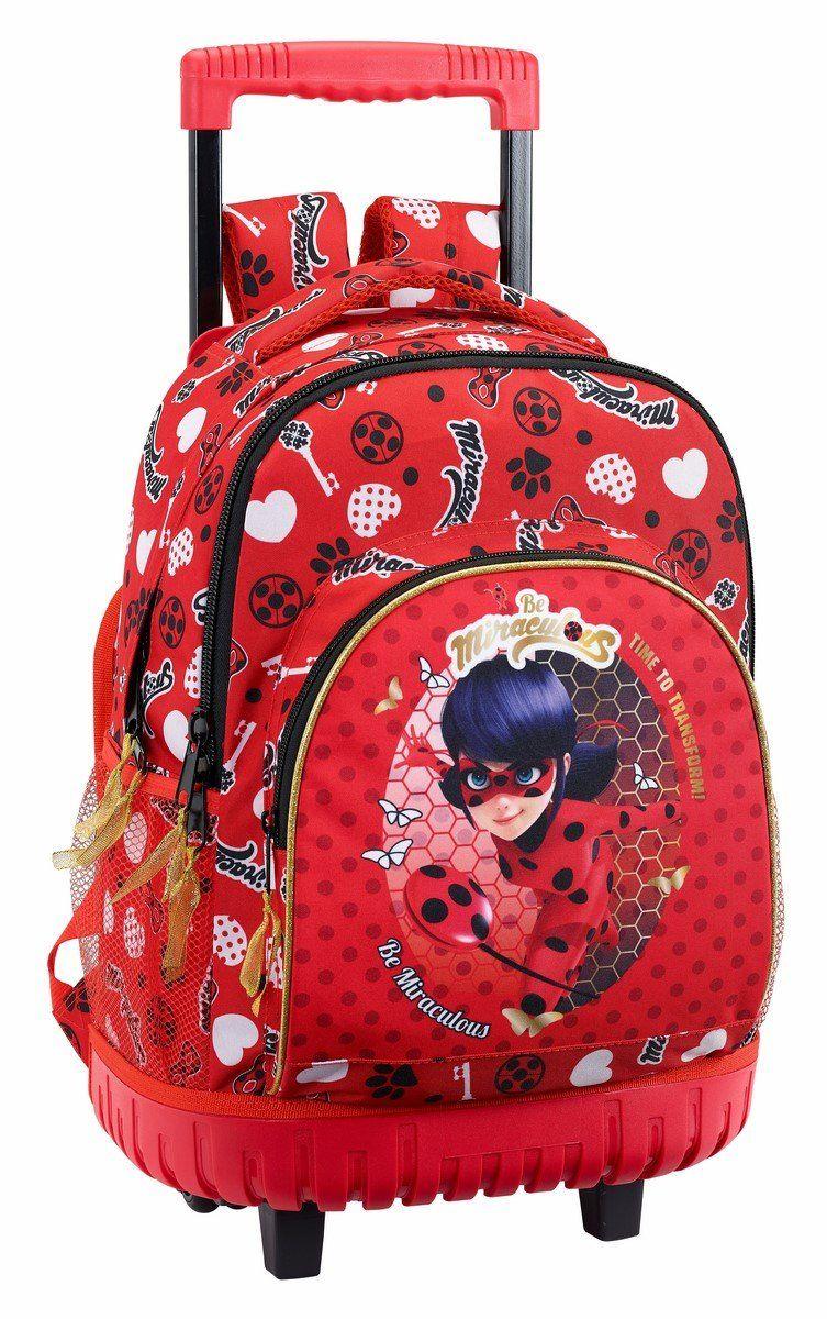 retro originales precio moderado Safta Mochila Escolar Grande Con Ruedas Ladybug