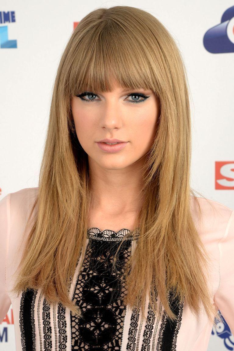 Taylor Swift Beauty Straight Hair Bangs Taylor Swift Hair Taylor Swift Haircut Long Hair Styles