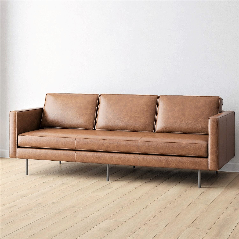 3D Model / West Elm / Drake Sofa 6 colours Leather sofa