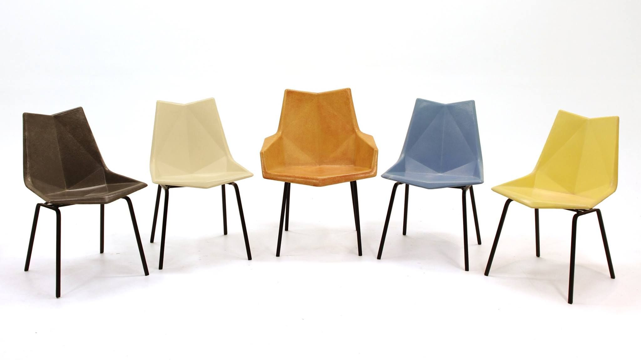 Paul Mccobb Origami Chairs All The Original Colors Origami Chair Furniture Chair