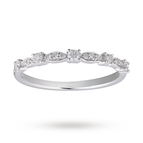 For Her Brilliant and Marquise Cut Diamond Half Eternity Ring in
