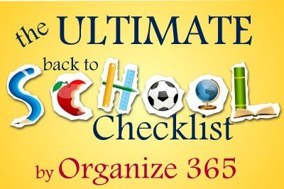 The ULTIMATE Back to School Checklist #backtoschool