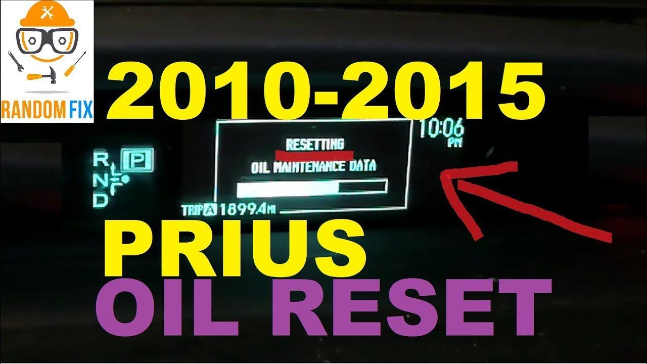HOW TO 2010 Toyota Prius Oil Reset / Oil Maintenance