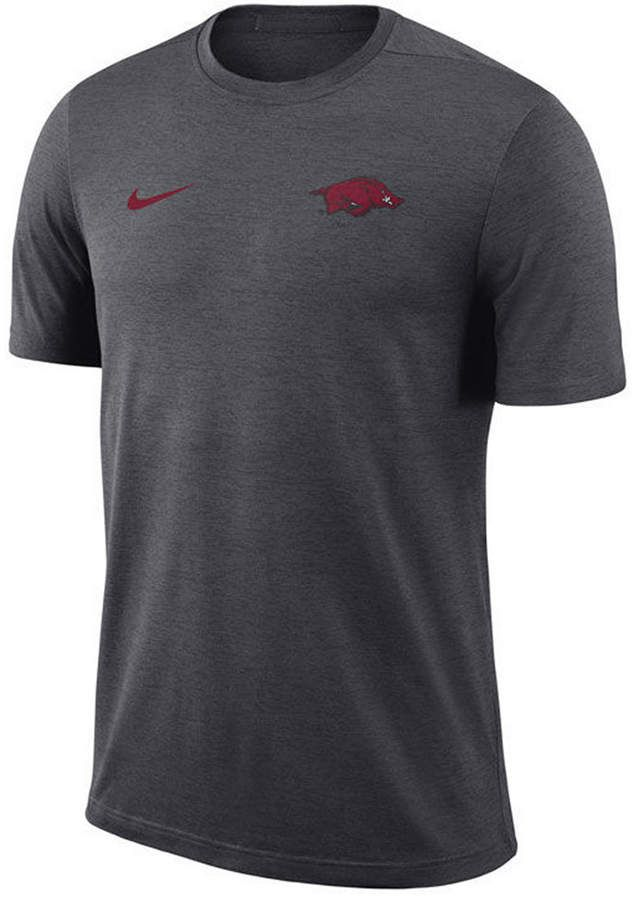 1755b04cf0d744 Nike Men s Arkansas Razorbacks Dri-Fit Coaches T-Shirt - Silver S ...