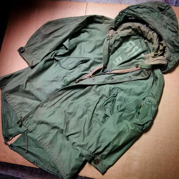 US M48 Parka Camouflage outfits, Field jacket, Vintage