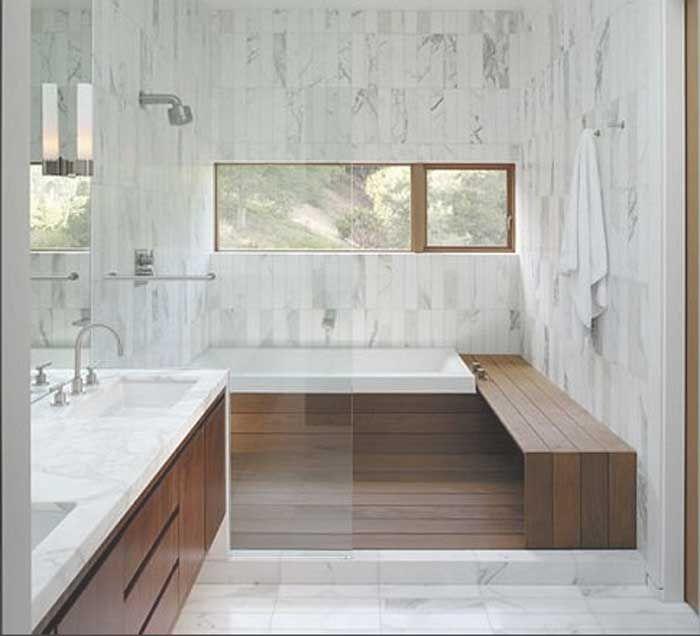 Badezimmer ideen für kleine bäder im weiß marmor dekor mit