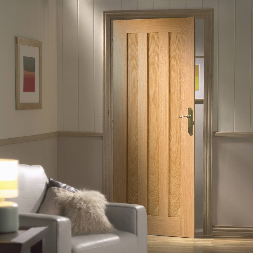 Fd30 Fire Door Idaho Oak 3 Panel Door 1 2 Hour Fire Rated Prefinished Oak Fire Doors Wooden Doors Interior Doors Interior
