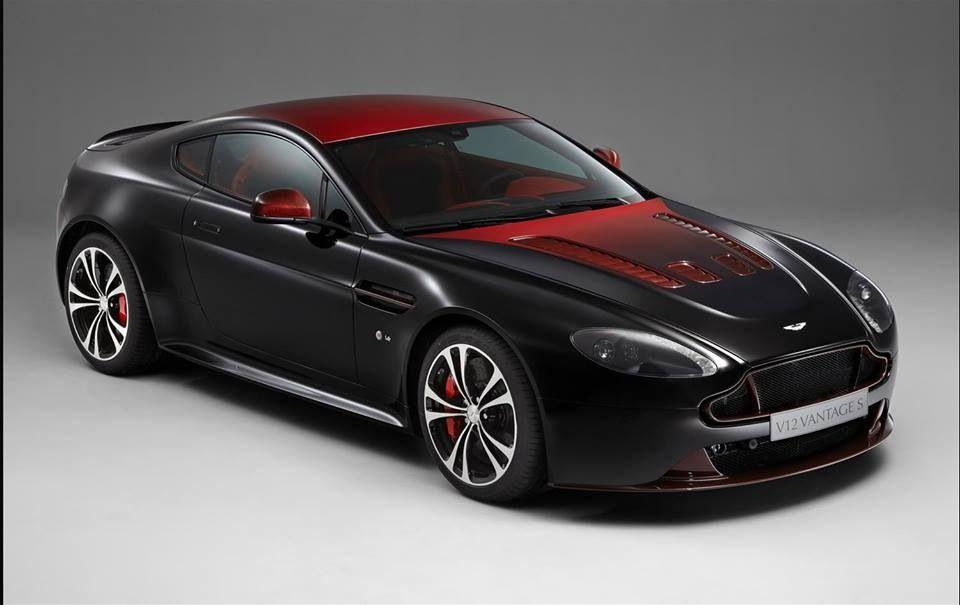 Aston Martin V12 Vantage S With Storm Black And Volcano Red Gradiated Finish Aston Martin Aston Martin V12 Aston