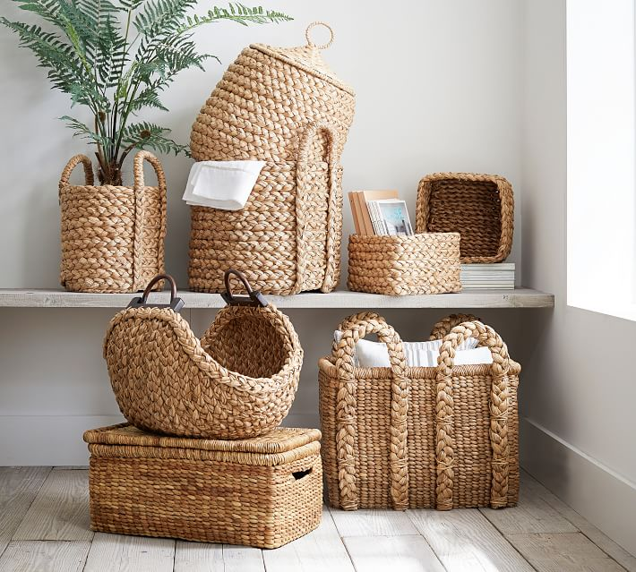 Beachcomber Handwoven Seagrass Basket Collection In 2020 Dog Toy Storage Baskets Pottery Barn Basket #storage #basket #for #living #room
