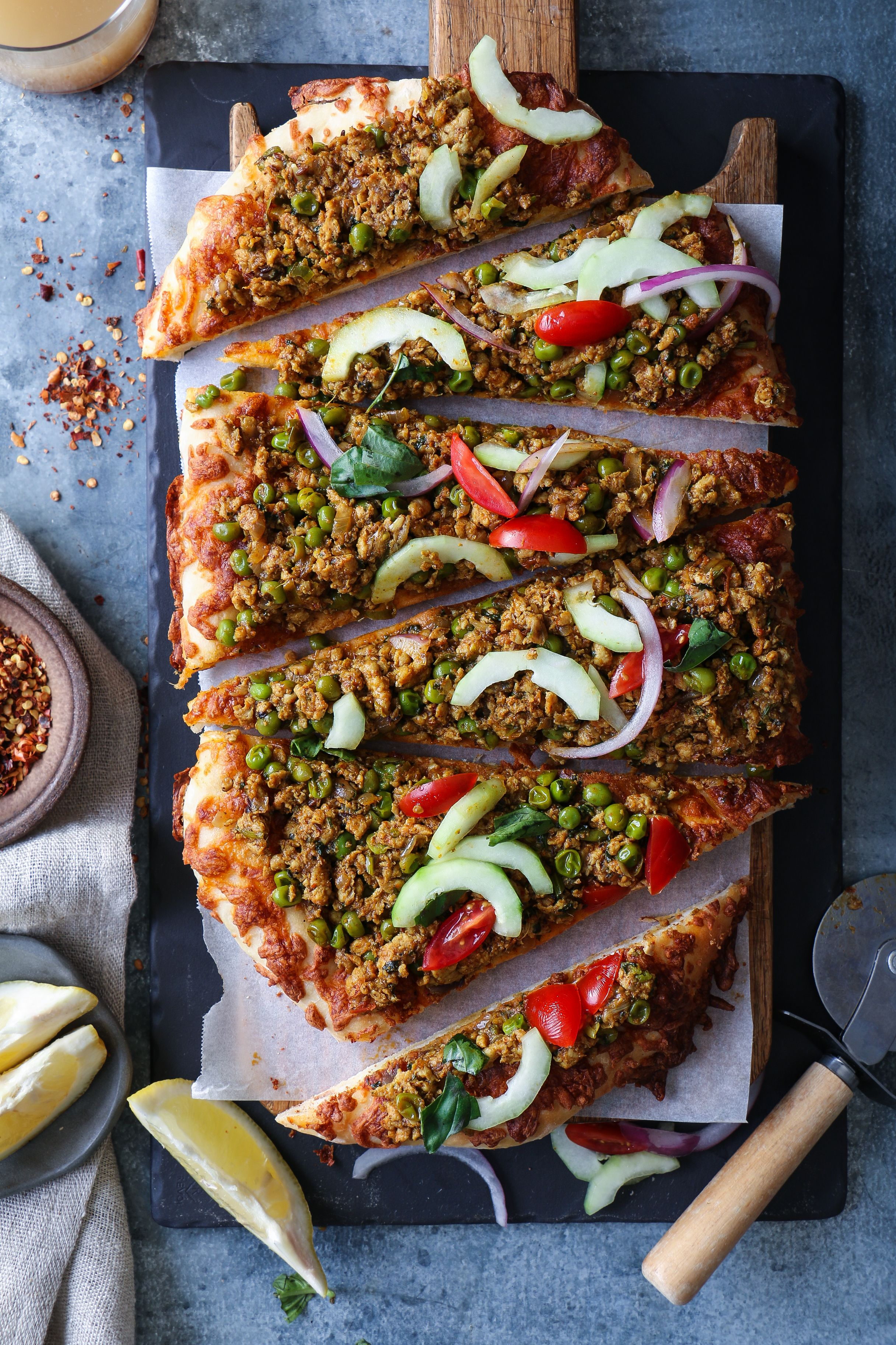Kheema Matar- Spicy Chicken Mince Pizza | Recipe | Indian ...