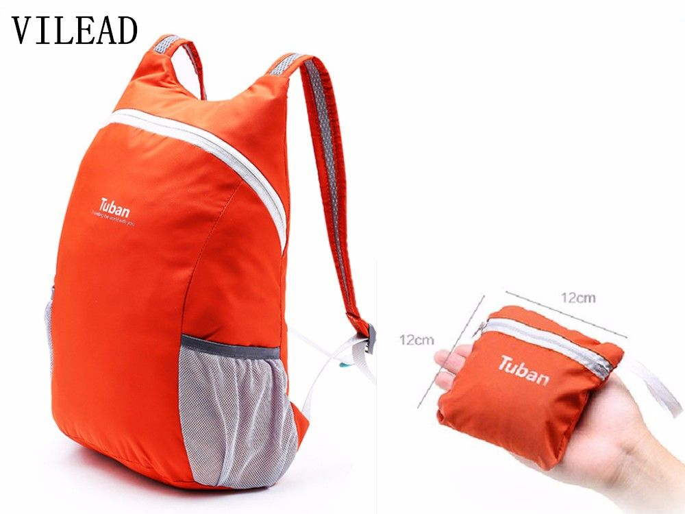 VILEAD Foldable Ultralight Outdoor Bag Waterproof Portable Men Women Sports  Backpack for Travel Cycling Mountaineering Camping 5068c05c2bb38