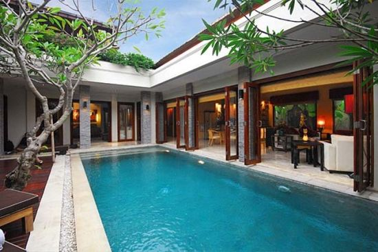 Bali Architecture Structures Built Around Pool