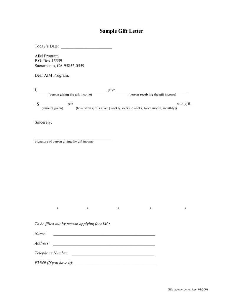 Gift Of Equity Letter Template Fresh Fha Down Payment Gift Equity