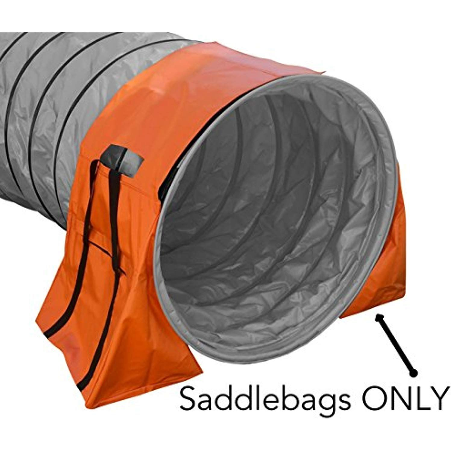 Non-Constricting Saddlebags For Stabilizing Dog Agility
