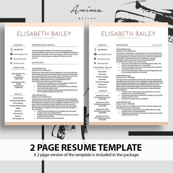 ✓ A Complete package of 1, 2, and 3 page Resume Template ✓ With